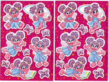 2 Sheets ABBY CADABY SESAME STREET Scrapbook Stickers Fairy