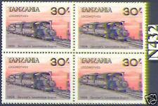 Tanzanie 1985: Locomotive à vapeur+Train 1906 Quarte N° 285 pfenning! 1A! 1605