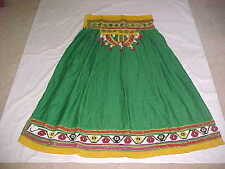 GREEN Gold INCREDIBLE Skirt BANJARA LENGHA Ghaghara Sari BALLROOM Dance BELLY