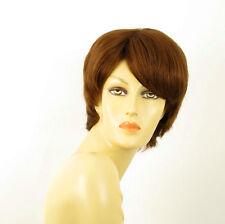 perruque femme 100% cheveux naturel châtain clair cuivré ref CECILE 30