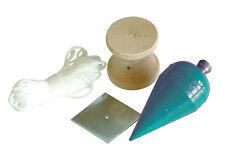F T Plumb Bob conjunto C/W Carrete de Madera para Cuerda trenzada de nylon & Spot Placa De Acero