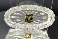 Vintage Golden Crown E&R Open Salt Cellar Dip Dish Western Germany Lead Crystal
