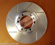 FORD FG XR6 Turbo XR8 G6E TURBO SLOTTED DISC BRAKE ROTORS FRONT PAIR 322mm