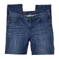 LAUREN CONRAD LC Women 8 Skinny Leg Mid Rise Medium Wash Denim Jeans Pants Blue