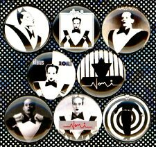 Klaus Nomi 8 NEW pins buttons badges keith haring gay icon bowie new wave punk