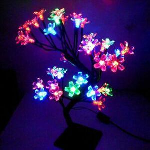 LED Light UP Cherry Blossom Tree Desk Table Lamp Home Party Bonsai Lights Decor