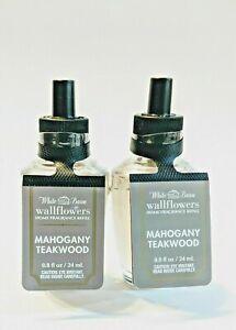 Wallflowers Refill Bulbs Mahogany Teakwood Bath & Body Works Lot of 2