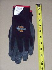Mens Lg HARLEY DAVIDSON Motorcycles Riding Driving Winter Work Black Knit Gloves