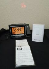 Weather Monitor Projection Alarm Clock Hammacher Schlemmer 2 Alarm Set Snooze