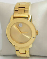 MOVADO BOLD GOLD DIAL GOLD TONE 36MM LADIES WATCH 3600104 $695.00