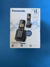 PANASONIC Expandable Cordless Phone System with Amber Backlit Display KX-TGC352B