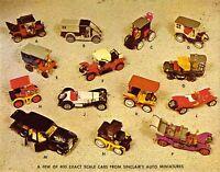 PA Erie 1960s SINCLAIR AUTO MINIATURES Price List TOYS Advertise 5.5x7 postcard