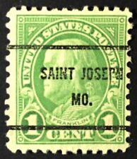 St. Joseph, Missouri Precancel - 1 cent Franklin (U.S. #552-type) MO
