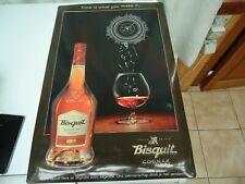 Superbe plaque en métal publicitaire pour le Cognac Bisquit