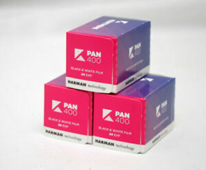 3x Kentmere 400 (By Ilford) Cheap Black & White Film 35mm 24 Exposure