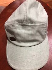 Turtle Fur Trail Cap 5 Panel Flax Green Adjustable Hat Hiking Vented