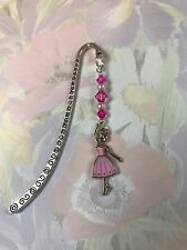 I LOVE BALLET GIRLS BOOKMARK Ballerina Charm Dancing Tibetan Silver in gift bag