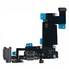 Black Headphone Dock Connector Charging USB Port Flex Cable iPhone 6S Plus Grey