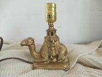 VINTAGE ANTIQUE ART NOUVEAU CAST IRON CAMEL LAMP