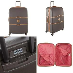 DELSEY Paris Chatelet Hard+ Hardside Luggage with Spinner Wheels Chocolate