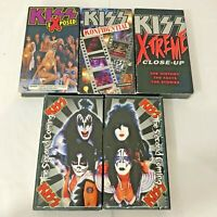Vintage KISS VHS Tapes 1987-1998 Lot of 5 VHS KISS Tapes Hard Rock Rock n' Roll