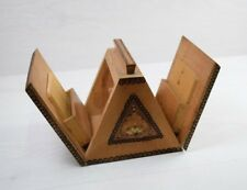 Vintage Collectible Handmade Wooden Cigarette Cigar Table Box Container Case