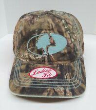 Mossy Oak Camo Powder Blue Hat  Cap Ladies Fit NWT mesh backing strap back fit