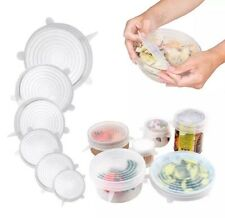 Reusable Silicone Wraps Bowl Seal Cover Stretch Lids Keep Food Fresh BPA Free US