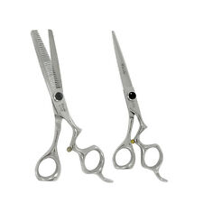 "Kashi Professional Hair Cutting 5.5"" and Thinning Shears 6.5"" Set Cobalt Steel"