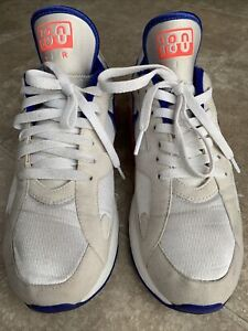 Nike 615287-100 Air Max 180 White/Ultramarine/Red Cushioned Athletic Shoes 9.5