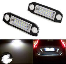 LED License Plate Lights CANBUS Xenon White For 2006-2015 Volvo C30 C70 S40 S80
