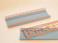 BNIB 48596 OO HO Gauge 2 Bridge Decks & 4 Railings (Bridge Kit) Auhagen