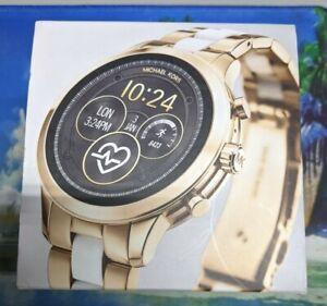 NEW Michael Kors Gen 4 Runway White Gold Smartwatch MKT5057