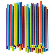Paper Jumbo Smoothie Straws,100% Biodegradable Assorted Colors