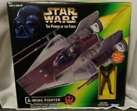 STAR WARS Power of the Force REBEL A-WING FIGHTER 1997 Kenner Action Figure