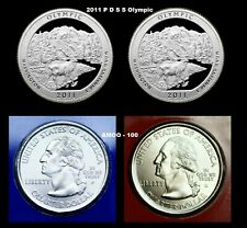 2011 P D S S Olympic Silver & Clad Proofs, P & D from U.S. Mint 4 Quarters