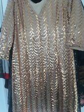 joanna hope gold sequin dress size 20