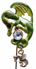 NEW KIRKS FOLLY SPARKLING DRAGON & BABY DRAGON BOOKMARK  GOLDTONE