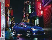 2013 Toyota Matrix Matrix S Genuine Factory Sales Brochure / NEW / FREE SHIPPING