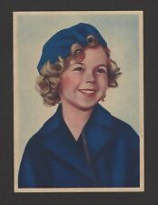"""Shirley Temple 1936 Nestle Stars of the Silver Screen Card #56 4""""x6"""""""