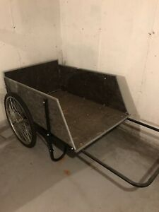 Wooden Wheelbarrow 16x48x31 (Spacious, Rubber Tires, Durable) Local Pickup Only