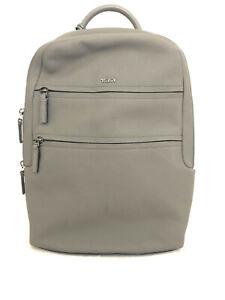 Tumi Landon Alcott Pebbled Leather Laptop Backpack Gray