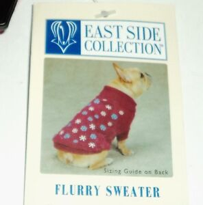 EAST SIDE COLLECTION Dog Flurry Snowflake Sweater DEEP RASPBERRY Size XSMALL NWT