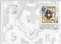 switzerland helvetia 2000 philatelic exhibition large stamps cover ref 20394