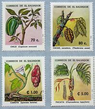 EL SALVADOR 1994 MNH SC 1377-80 NUTRITIONAL PLANTS