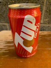 7 Up Gold Soda Can Empty Rare (Bottom Opened) (Make an offer)
