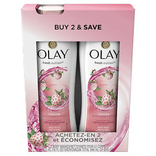Olay Fresh Outlast Cooling White Strawberry & Mint Body Wash, 16 fl oz Twin Pack