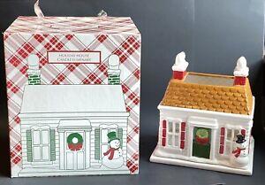 2010 Holiday House Large Candle Luminary Holder Harry Slatkin & Co Christmas