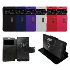 Funda soporte libro ventana Sony Xperia L1 + protector cristal opcional