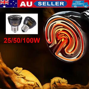 100W/50W E27 Heat Emitter Lamp for Reptile Brooder Pet Grow Infrared Light Bulbs